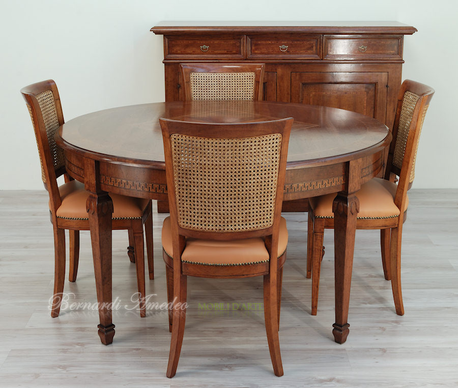 Tavoli rotondi e ovali allungabili 5 tavoli for Tavolo allungabile rotondo