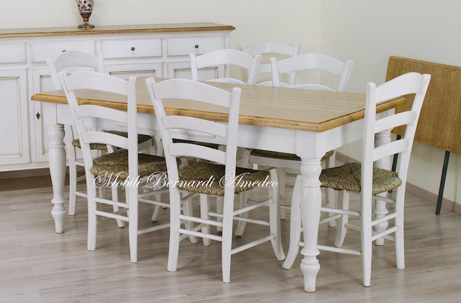 tavoli country da cucina in legno massello tavoli